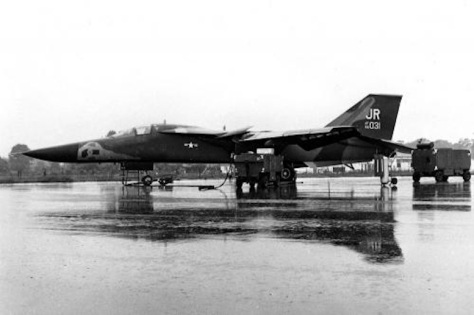 General Dynamics F-111E (S:N 68-031) of the 79th Tactical Fighter Squadron, 20th Tactical Fighter Wing, RAF Royal Australian Air Force Upper Heyford, in June 1971